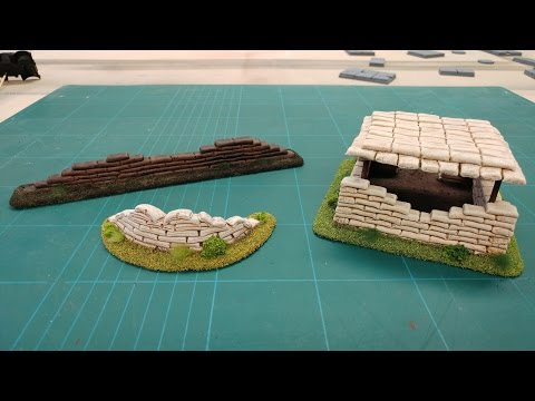 Let's Make - Cheap & Easy Sandbag Barricades & Bunkers Wargames Scenery