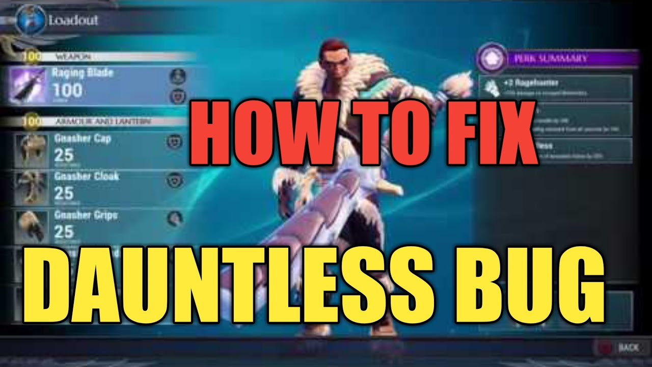Dauntless Bug - How to Fix ( PS4 )