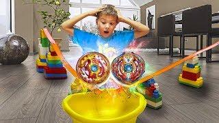 №1 КРУТАЯ АРЕНА ИНФИНИТИ НАДО С ТРЮКАМИ!!! Сделал сам из игрушек для детей for kids children