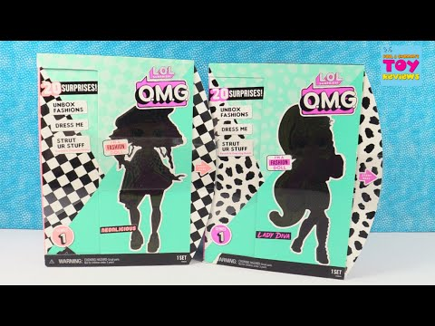 LOL Surprise OMG Dolls Lady Diva Neonlicious Doll Unboxing Review | PSToyReviews