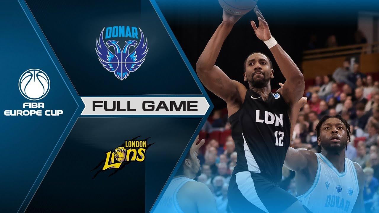 Donar Groningen v London Lions | Full Game - FIBA Europe Cup 2021-22
