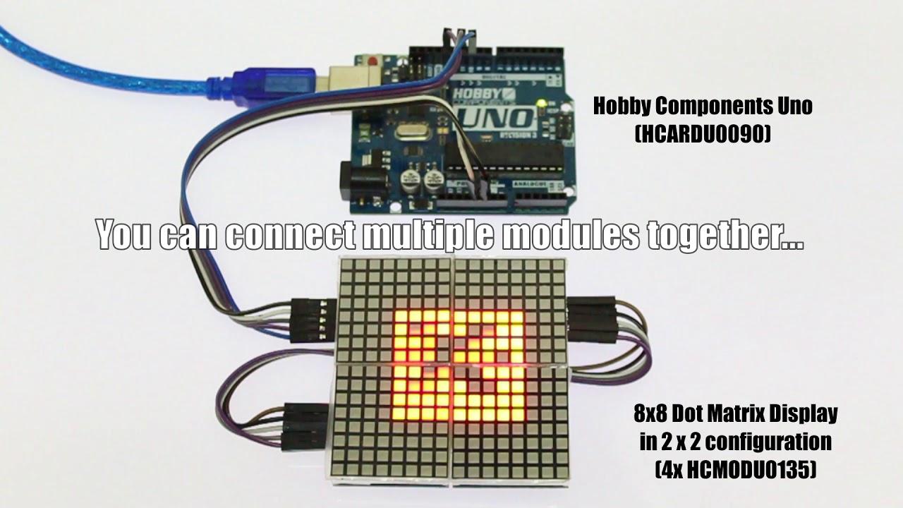8x8 Serial Dot Matrix Module - Hobby Components