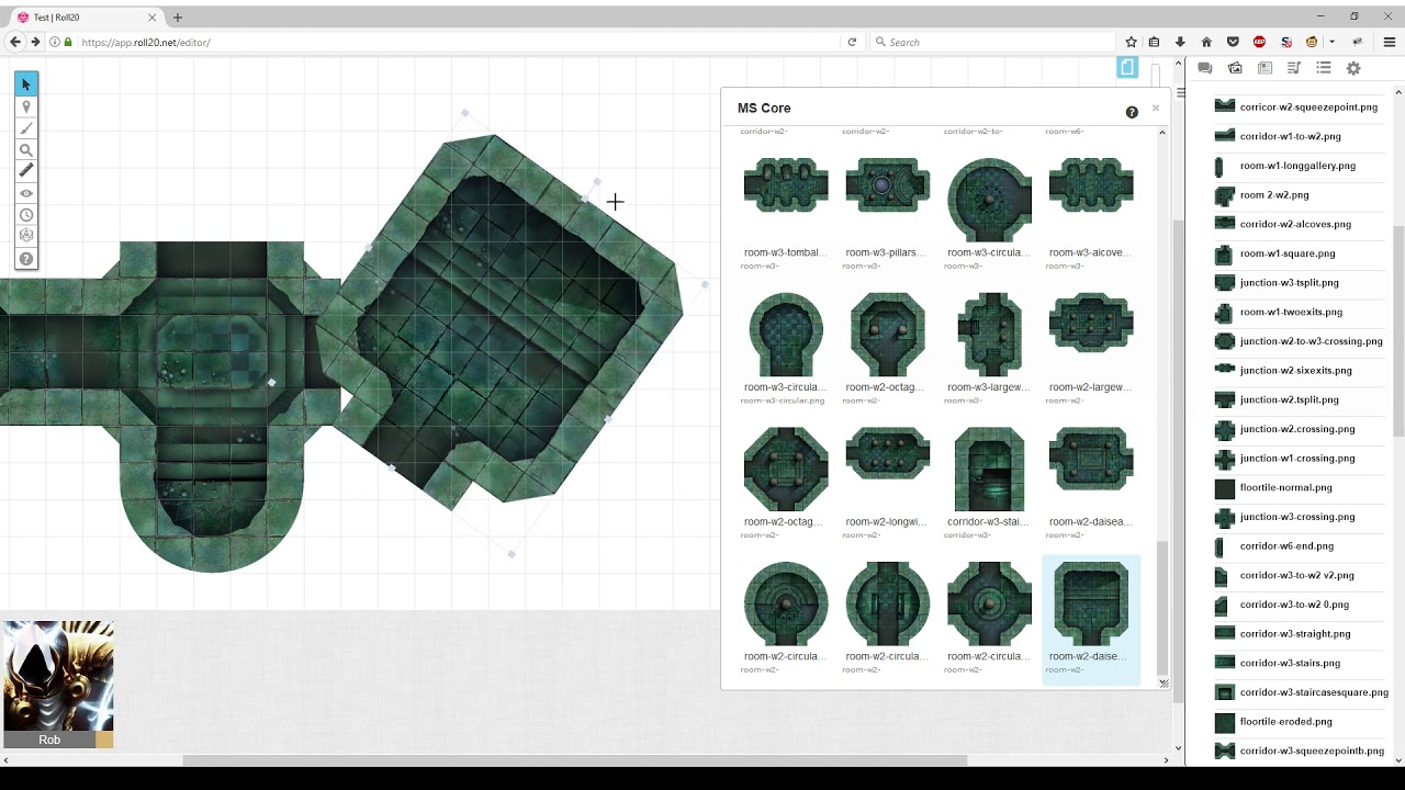 Making a Dungeon Map in Roll20 with MapSmyth Modular Dungeon Tiles