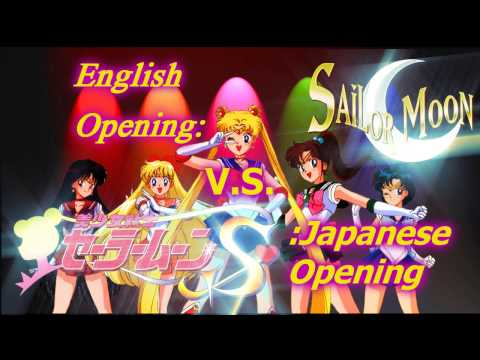 Sailor Moon Opening Mash-up (English V.S. Japanese)