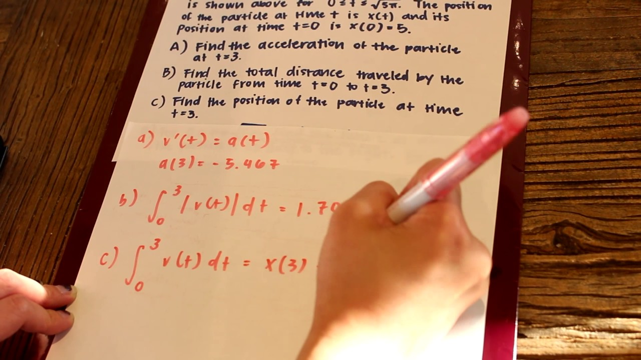 AP CALC AB FRQ 2007 FORM B Number 2 - YouTube