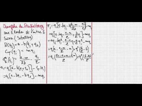 Duopole De Stackelberg Partie 1 Youtube