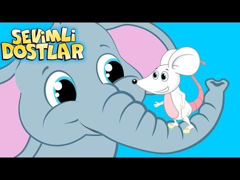 Fil ile Fare   Sevimli Dostlar ile Çizgi Film Bebek Şarkıları 2018   Adisebaba TV