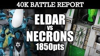 Eldar vs Necrons Warhammer 40K Battle Report CLASH AT THE CRYPT! 6th Ed 1850pts   HD Video