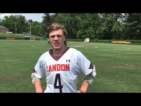Colton Rupp, Landon School, 2015 IAC Lacrosse Championship