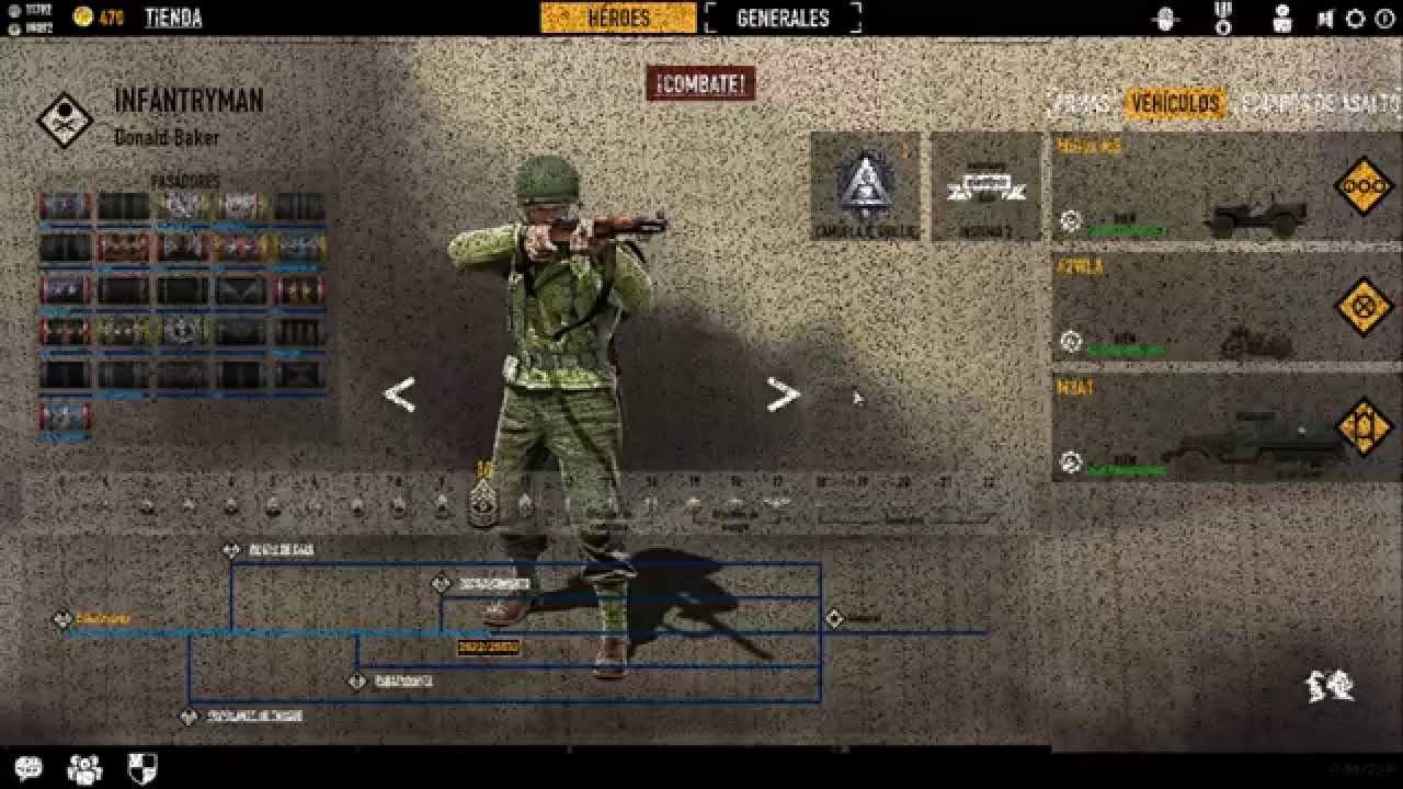 Juego De Guerra Online Gratis Heroes Y Generales Youtube