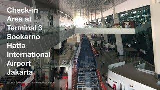Check in Area at Terminal 3 Soekarno Hatta International Airport Jakarta
