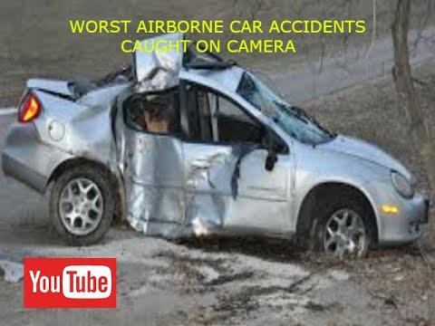 Airborne Car Crashes Caught On Camera Car Crash Compilation Youtube