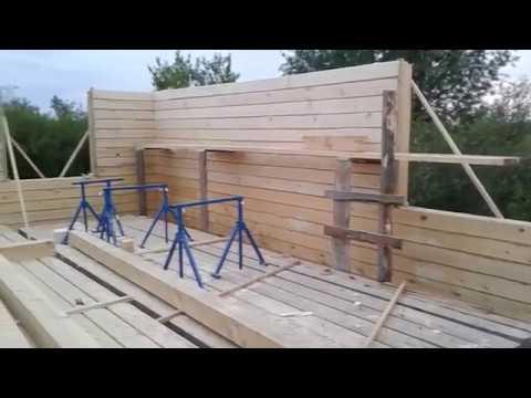 Дом из бруса.Как строить одному. смотреть видео онлайн