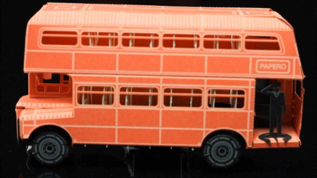 Papercraft London Double Decker Bus Paper Model Kit