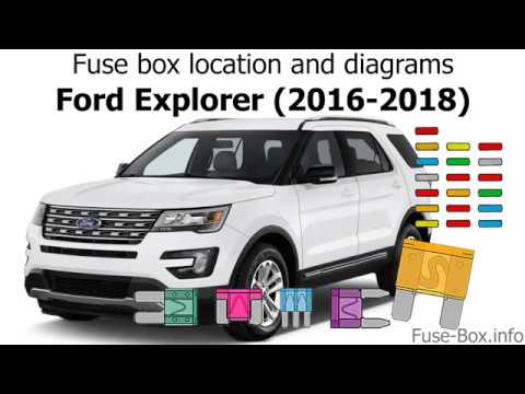 Fuse box location and diagrams Ford Explorer (2016-2019) - YouTube