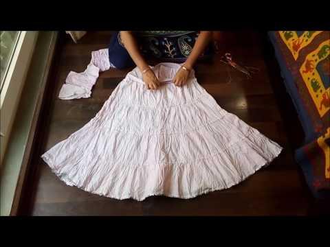 DIY: Skirt from anarkali top.
