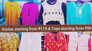 Vishal mega Mart most affordable kurtas and tops - store tour/ offers