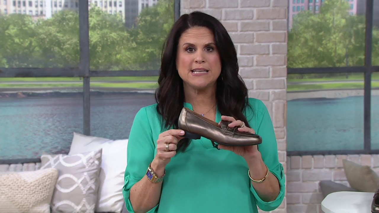 db6249046b4 Clarks Unstructured Slip-On Penny Loafers - Un Blush Go on QVC - YouTube