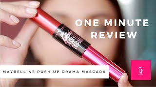 MAYBELLINE PUSH UP DRAMA MASCARA| ONE MINUTE REVIEW | Affordable make up | Tejaswi