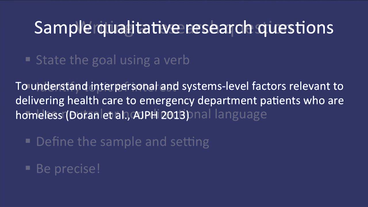 research methodology sample questions Quantitative research methods in educational planning operationalization of research questions 8 some form of questionnaire to be administered to a sample of.