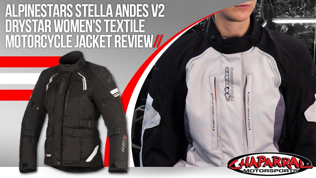 Choose Size Alpinestars Womens ANDES V2 Drystar Adventure Touring Jacket Black