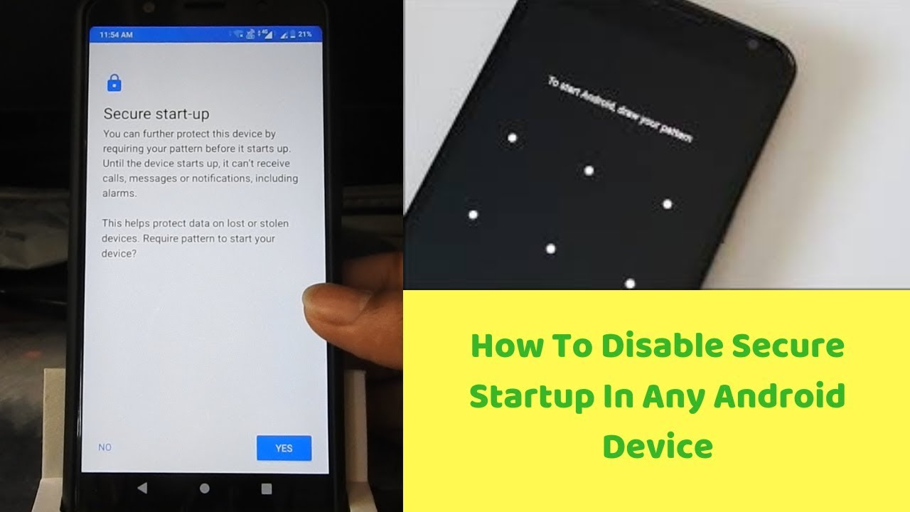 How To Disable Secure Startup In Any Android Device