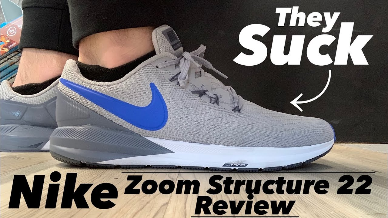 design intemporel 759c4 8d06a Nike Zoom Structure 22 Review THEY SUCK (SUBSCRIBE!)