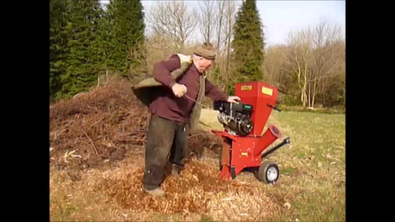 Electropower 13hp garden shredder chipper mulcher review YouTube