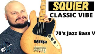 SQUIER Classic Vibe 70's Jazz Bass V // 5 String Bass Review!