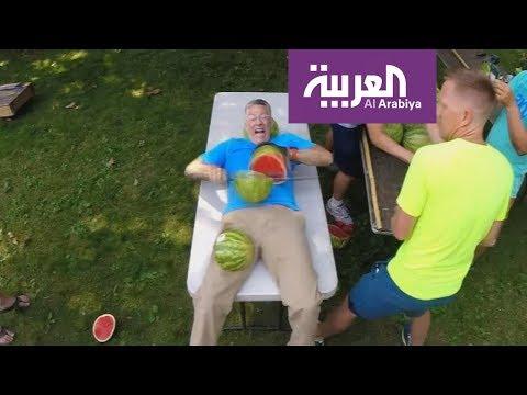 -حول العالم- من العربية دخل -غينيس- بتقطيع البطيخ  ومزرعة تحت الماء  - نشر قبل 2 ساعة
