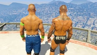 GTA 5 Randy Orton John Cena Compilation #4 (GTA 5 WWE Fails Funny Moments)