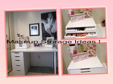 Makeup Storage Ideas+ D.I.Y. Dust Free Makeup Brushes !