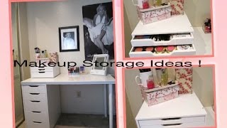 Makeup Storage Ideas+ D.I.Y. Dust Free Makeup Brushes ! Thumbnail