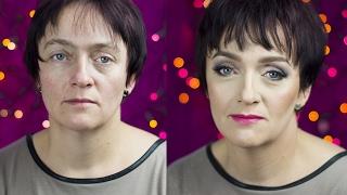 Makijaż kobiety dojrzałej, Metamorfoza (Makeup older woman, Metamorphosis)