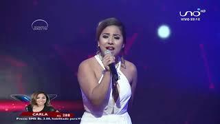 ¡Impresionante voz de Carla!  | Noches de pasión |  Factor X Bolivia 2018