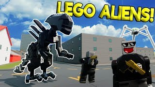 LEGO METEORITE CAUSES ALIEN INVASION! - Brick Rigs Roleplay Gameplay - Lego Police Agents