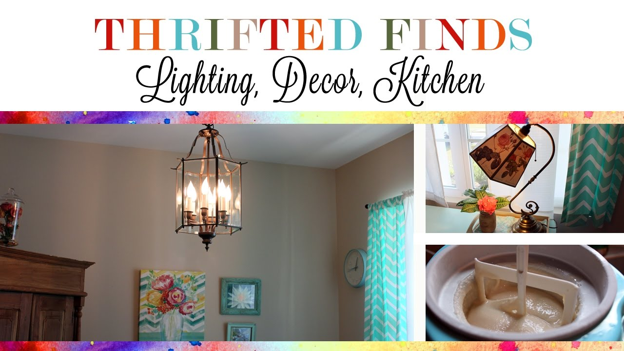 Thrifted Finds: Lighting, Decor, and Kitchen