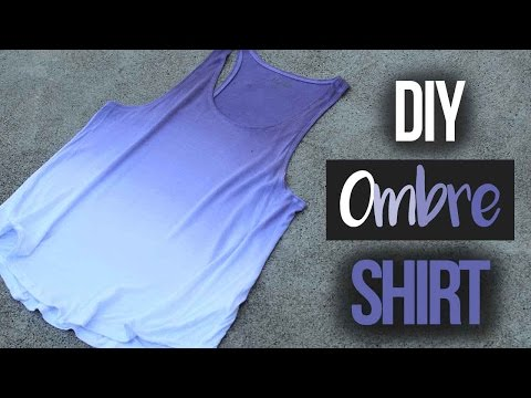 How to Ombré Dye a Shirt