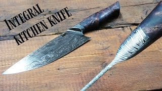 knife making - Integral Damascus chef's knife