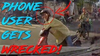 STUPID, CRAZY & ANGRY PEOPLE VS BIKERS | HILARIOUS PHONE USER INCIDENT! [Ep.#783]