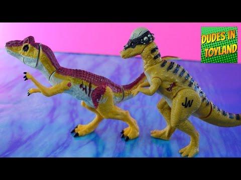 Jurassic World dinosaur toys - Allosaurus & Pachycephalosaurus dino toy 2015