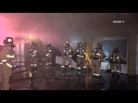 Fountain Valley: Numerous Cars Damaged After Garage Fire