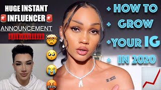 IM ON INSTANT INFLUENCER WITH JAMES CHARLES | HOW TO GROW UR IG 2020