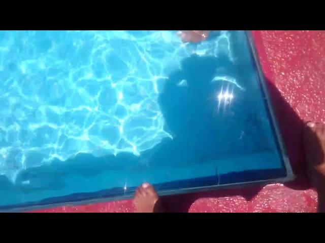 تعليم السباحة كابتن اسماعيل الكردي تعليم وليد من البحيرة السباحة في اربع ايام فقط