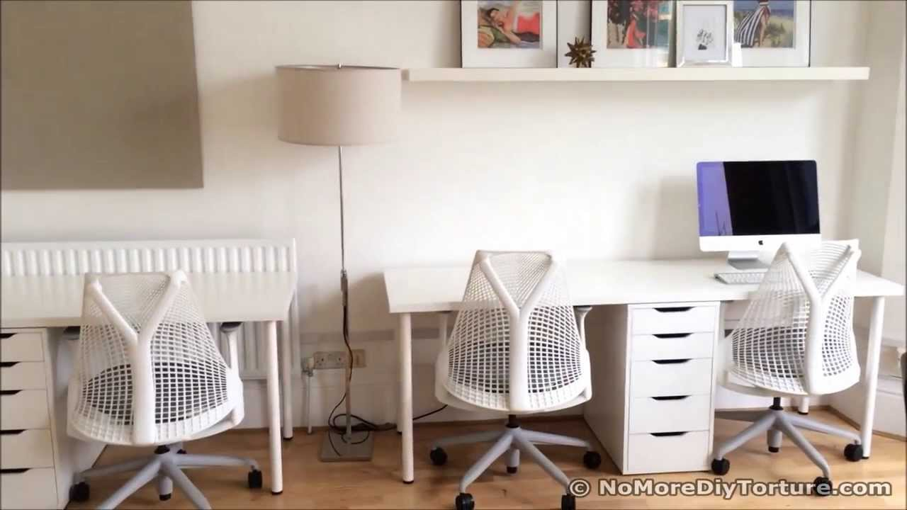 Bureau ikea linnmon alex: ikea alex table top easy desk hack table