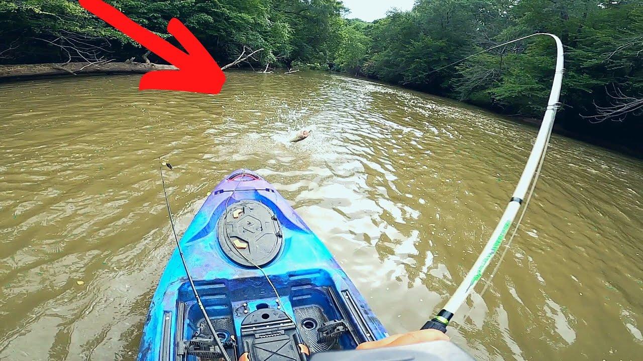 Muy Buena Pesca En Rio Con Aguas Turbias y Oscuras