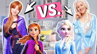BFF Battle ⚡️ Elsa & Anna Kostüm DIY ohne nähen! | ViktoriaSarina