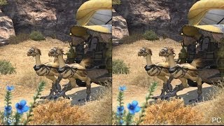 Final Fantasy 14 PS4 vs PC Comparison
