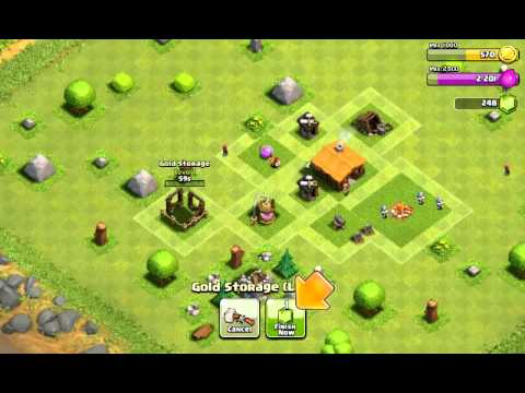 clash of clans epic lets play ep1( starter)