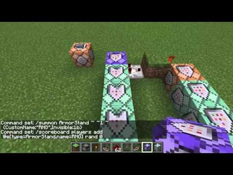 Minecraft: Scoreboard-Based Random Number Generator